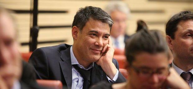 Olivier Faure, député socialiste de Seine-et-Marne, vice-président du groupe socialiste à l'Assemblée nationale et secrétaire national de PS.