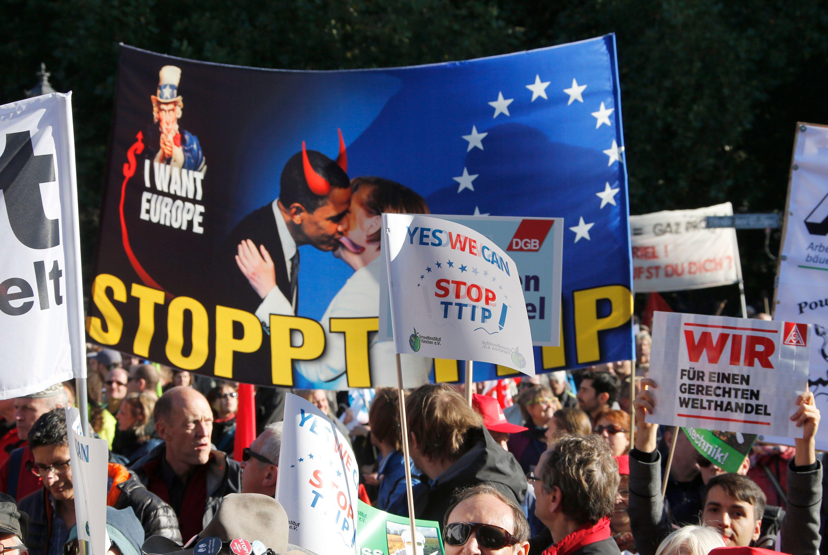 Non à Paris, oui à Berlin : le traité transatlantique sera-t-il l'épreuve de vérité pour l'Union européenne ?