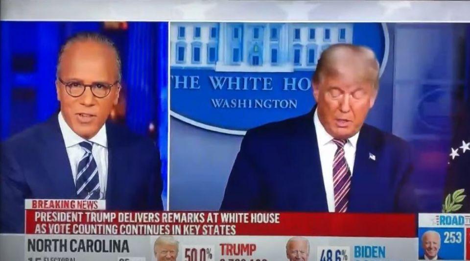 """Le discours de Donald Trump sur la fraude et la """"victoire volée"""" n'a pas plu aux médias"""