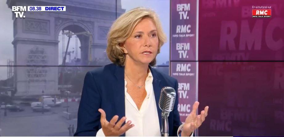 Valérie Pécresse était l'invitée de la matinale de RMC et BFMTV ce lundi 26 juillet.