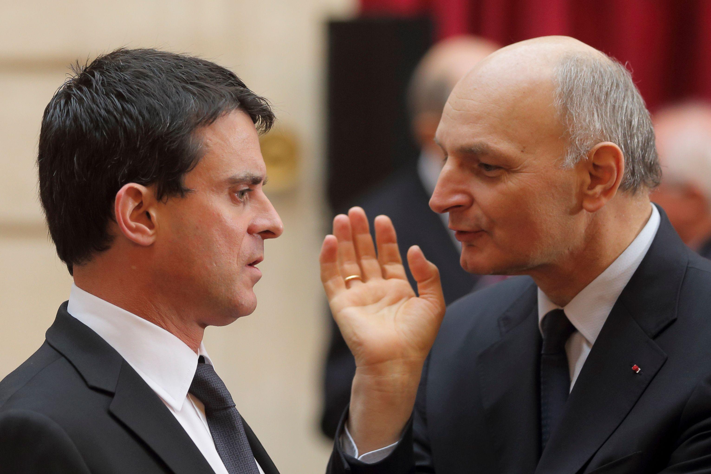 Manuel Valls  et le président de la Cour des comptes Didier Migaud.