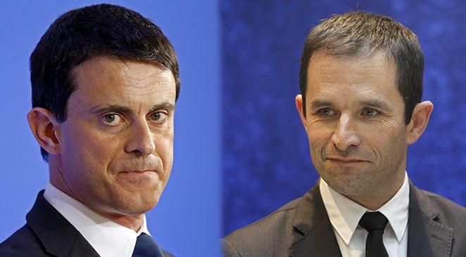 Primaire de gauche : Benoît Hamon en tête avec 36,21%, devant Manuel Valls (31,19%)