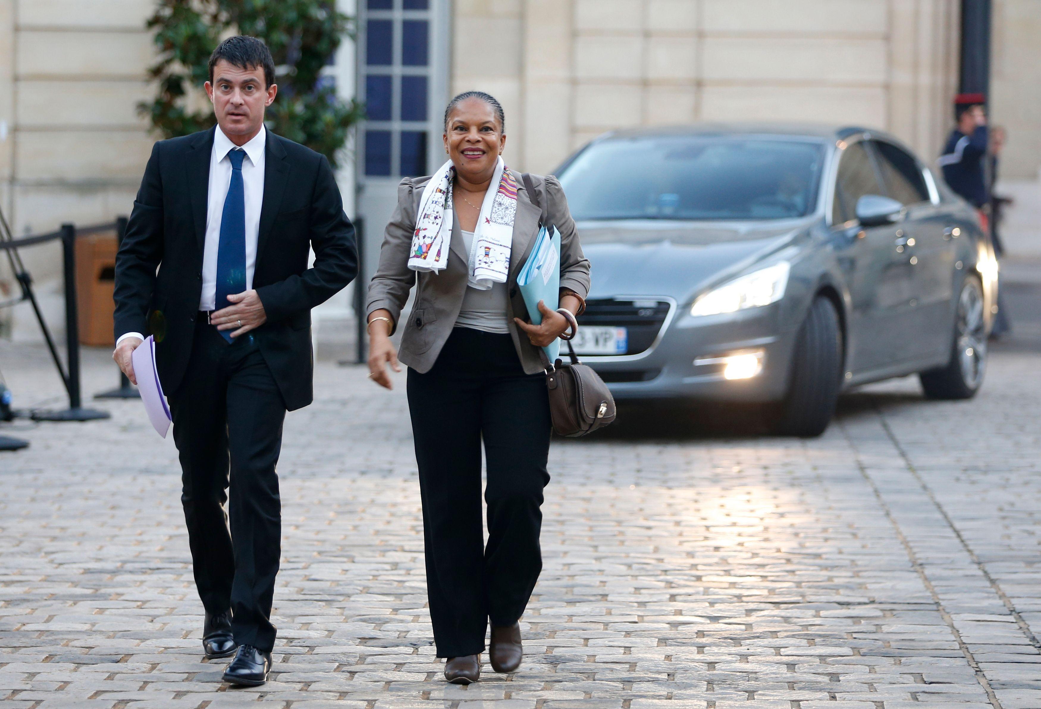 Manuel Valls et Christiane Taubira.