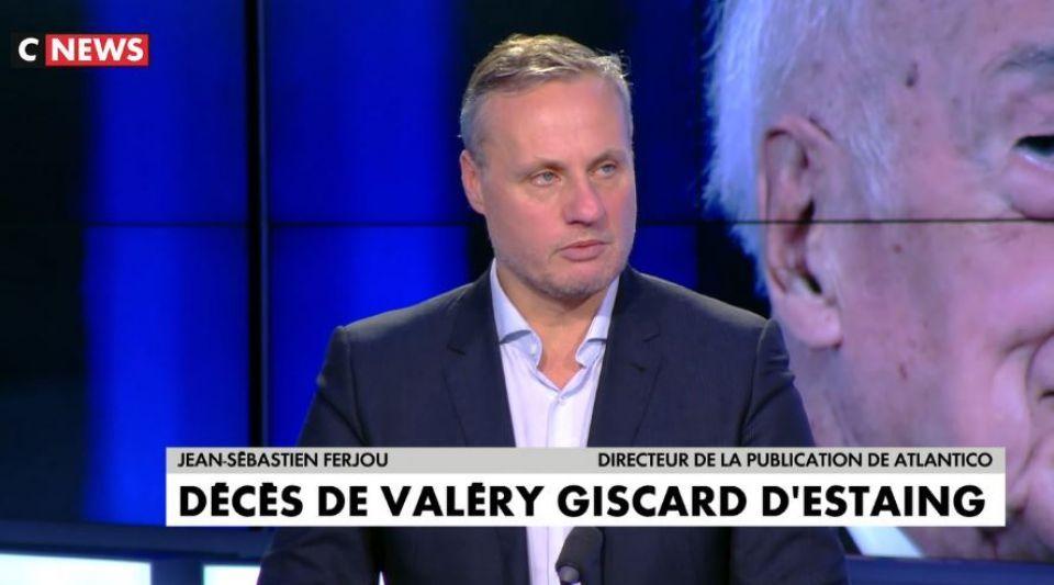 Jean-Sébastien Ferjou mort de Valéry Giscard d'Estaing hommage Soir Info CNews
