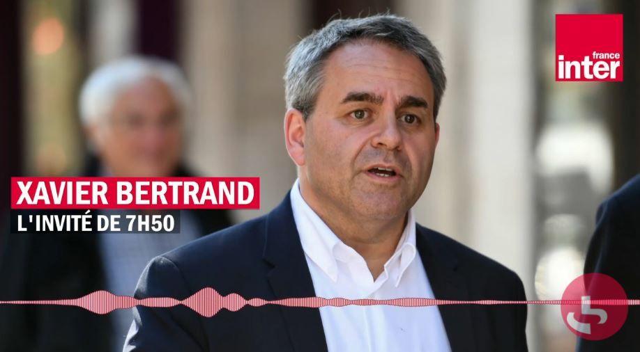 Xavier Bertrand était l'invité politique de la matinale de France Inter en ce jeudi 24 juin.