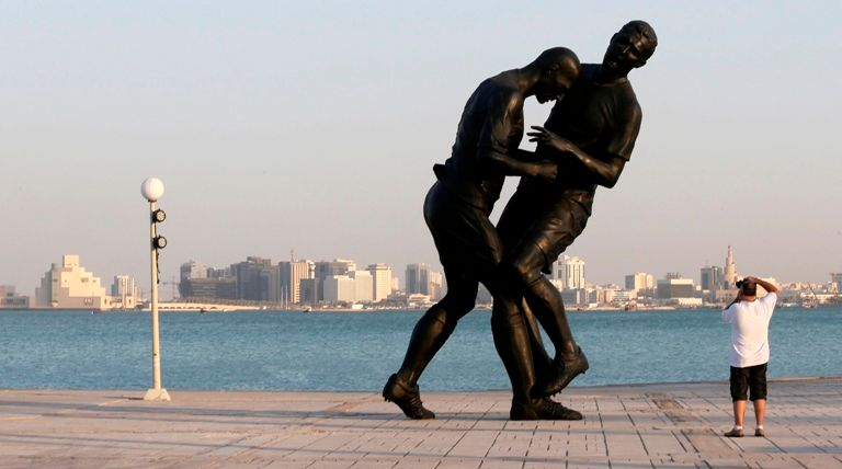 "Sculpture ""Coup de tête"" Adel Abdessemed"