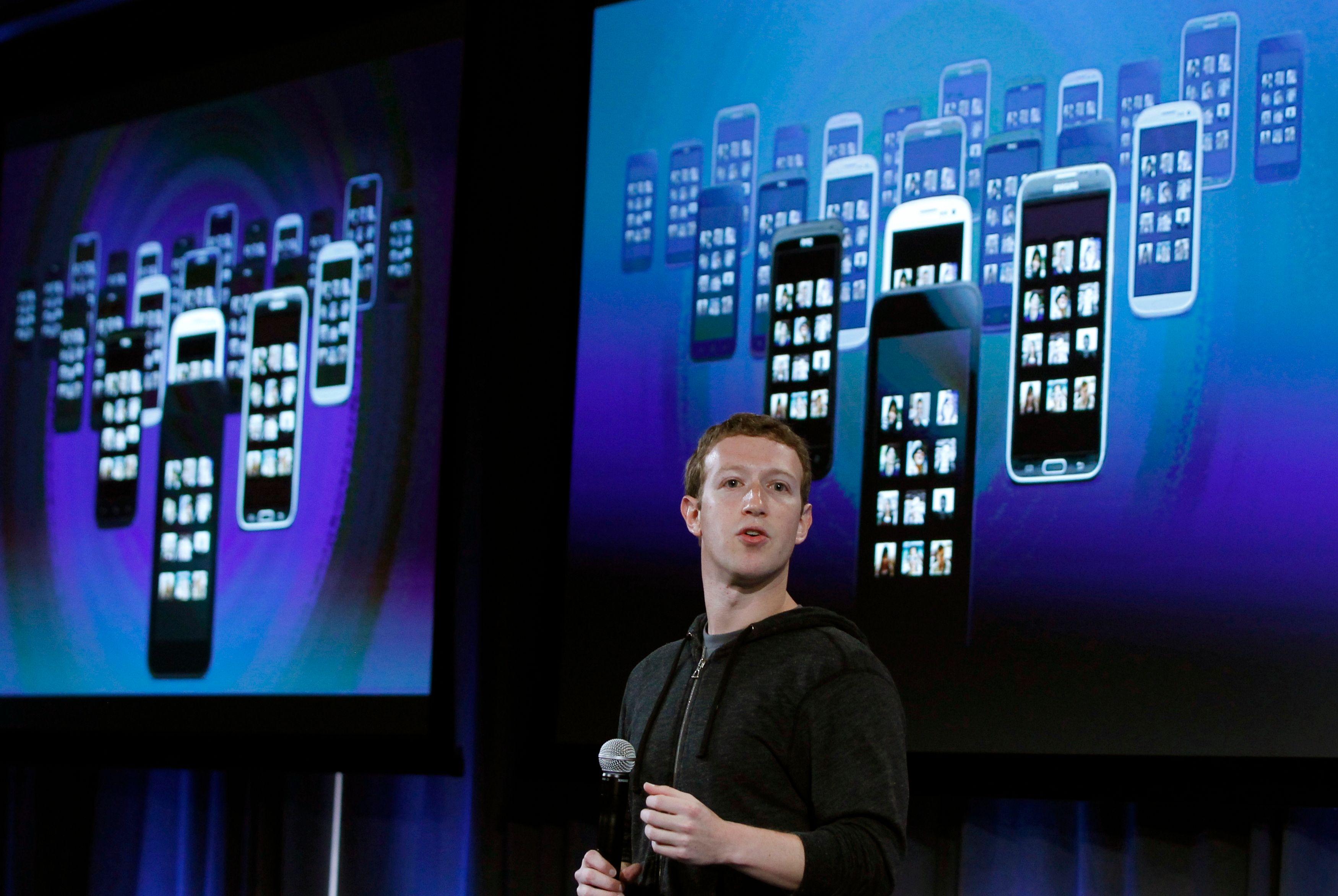 Mark Zuckerberg, fondateur du réseau social Facebook.